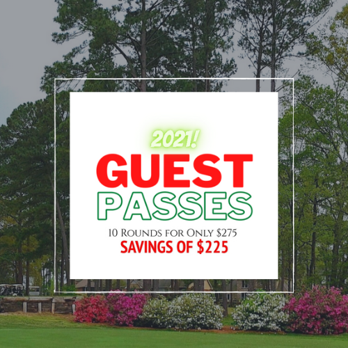 2021 Guest Pass: 10 rounds for $275.00