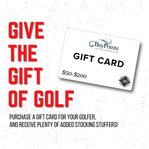 Give the Gift of Golf: $50 and receive 1 complimentary round of golf.