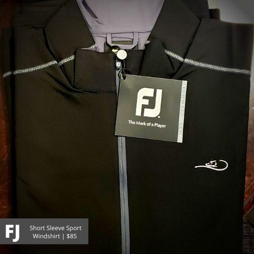 FootJoy Black Short Sleeve Sport Windshirt: $85