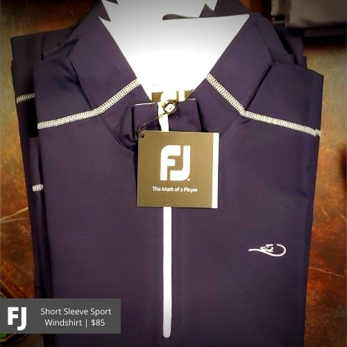FootJoy Navy Short Sleeve Sport Windshirt: $85