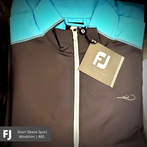 FootJoy Grey Short Sleeve Sport Windshirt: $85