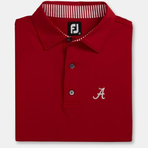 NEW Alabama Crimson Solid Lisle Self Collar (M to XXL): $75